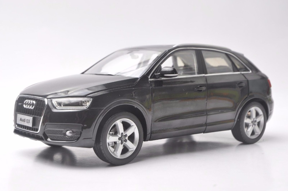 1:18 Diecast Model for Audi Q3 2013 Black SUV Alloy Toy Car Miniature Collection Gifts 1 18 diecast model for isuzu mu x silver suv alloy toy car miniature collection gifts mux mu x