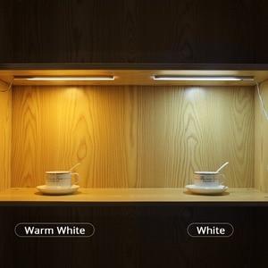 Image 5 - Tay Làn Sóng Công Tắc Đèn LED Thanh Cứng Nhắc Dây Bếp Chiếu Sáng Cảm Biến Bàn Tay 12V Đêm Đèn Cho Phòng Tắm Tủ Quần Áo Cocina đèn Tường