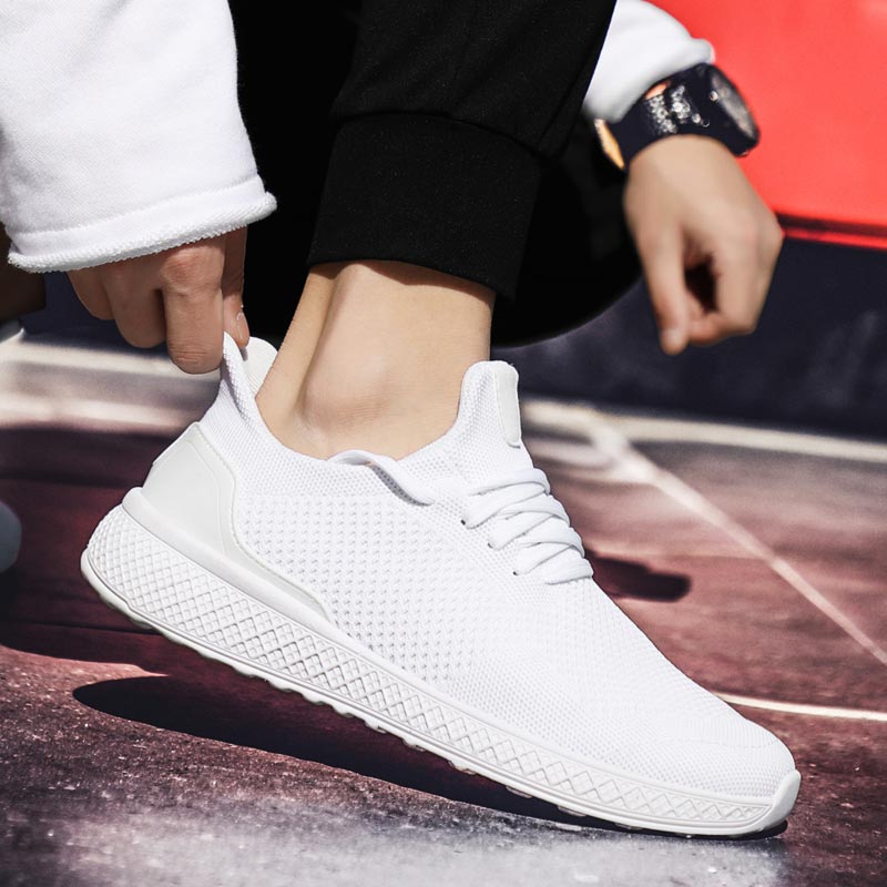 Summer Breathable Sneakers For Running Shoes Mens Shoes Sports Shoes Sport White Scarpe Running Uomo Training Trainers Gym A-211