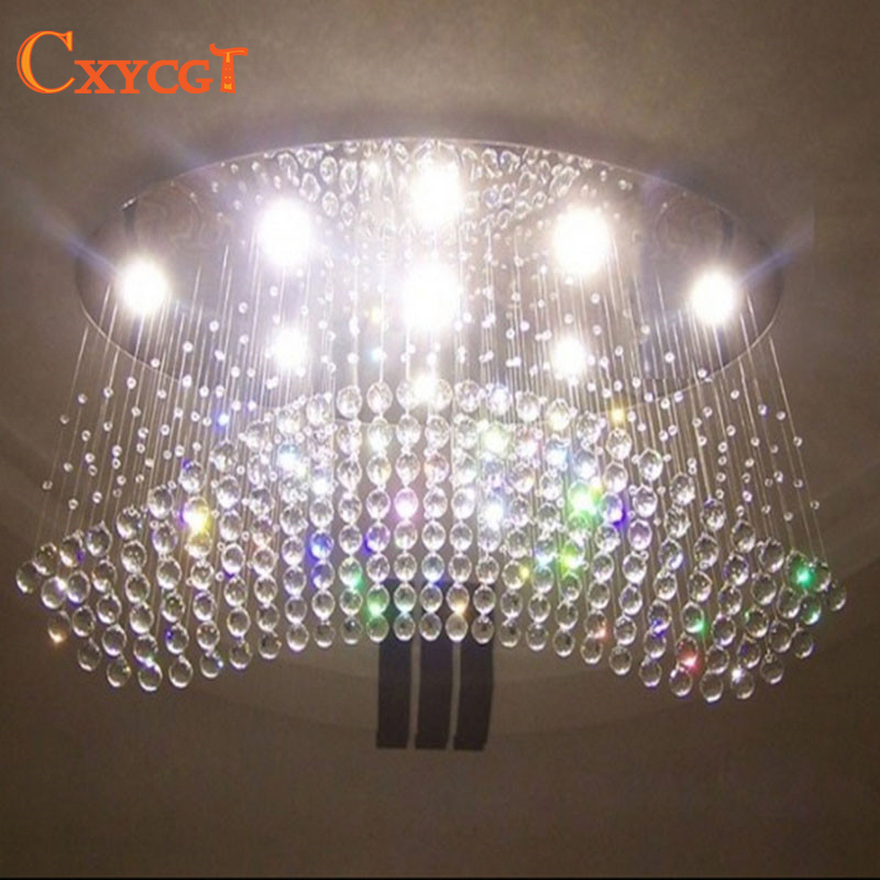 wholesale Free shipping oval curtain wave modern chandelier crystal lamp living room light size:L1000*W500*H650mm free shipping cheapest fashion crystal chandelier modern for living room bedroom wholesale