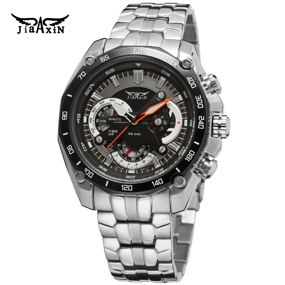Fashion Jiaxin Men Luxury Brand Stainless Steel Quartz Watch Automatic Japan Movt Quartz Wristwatches Gift Box Relogio Releges стоимость