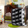 1 Piece 2016 New Baby Blanket 110*130 cm White Skulls Cotton Knitting Blankets For Children Bath Towels Bed Spread Play Mat Gift