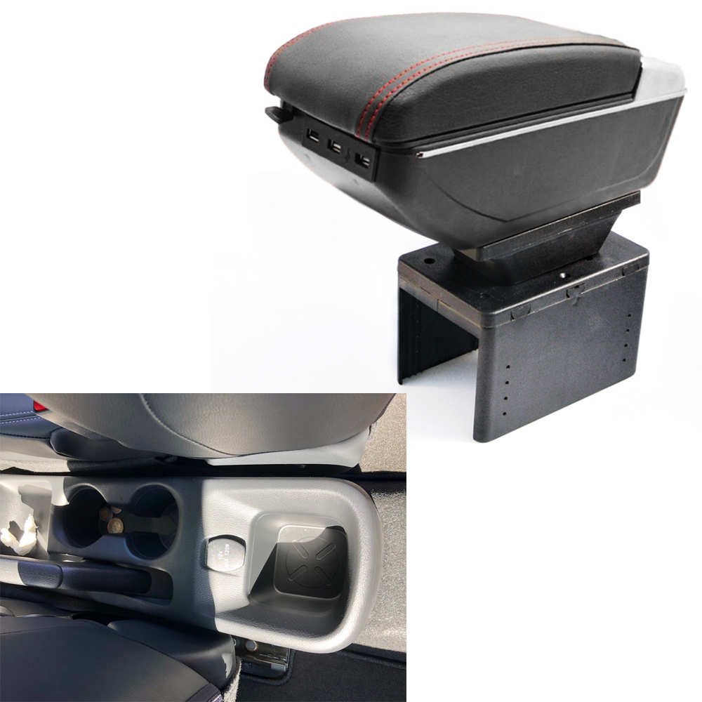 Для Nissan Kicks подлокотник коробка с Usb Автомобильный Центр коробка для хранения с подстаканником пепельница подлокотник вращающийся внутренний аксессуар