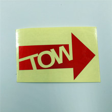 YOURART Tow towhook trailer warning stickers trailer hook automobile race stickers remoulded car sticker