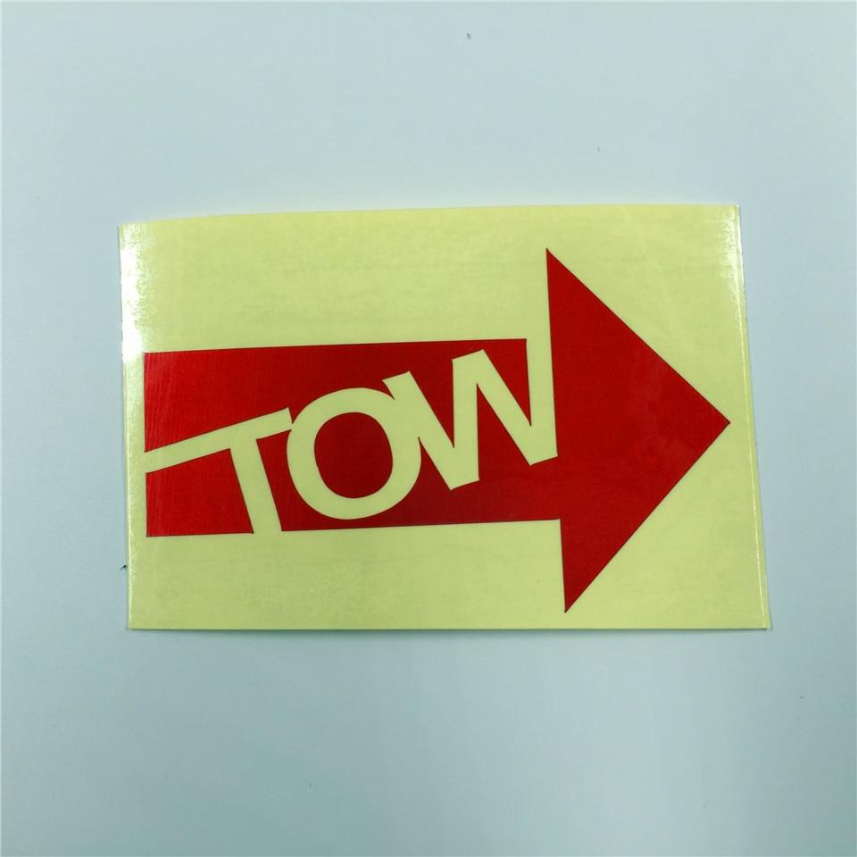 YOURART Tow towhook römork uyarı çıkartmaları römork kanca otomobil yarışı çıkartmalar remoulded araba sticker