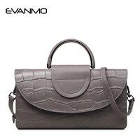 2017 New Crocodile Pattern Multi Function Handbag Female Split Leather Shoulder Bags Evening Clutch Bags Women