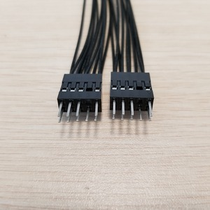 Image 2 - 10 unids/lote placa base Audio HD Cable de extensión 9Pin 1 hembra a 2 macho Y Cable divisor negro para PC DIY 10cm