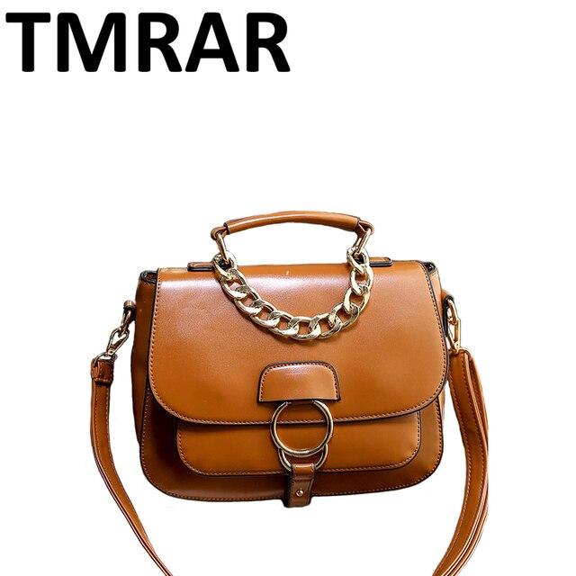 4f4081e0d8fb9 2019 New moda pu leather kobiety siodło łańcuchy torba na drobiazgi  tornistry dziewczyny stylowe torebki wysokiej