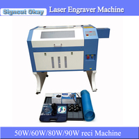 Laser Engravine 220 v/110 v Co2 Corte A Laser Do Gravador Máquina de Corte A Laser DIY Carving máquina com água CW3000 chiller