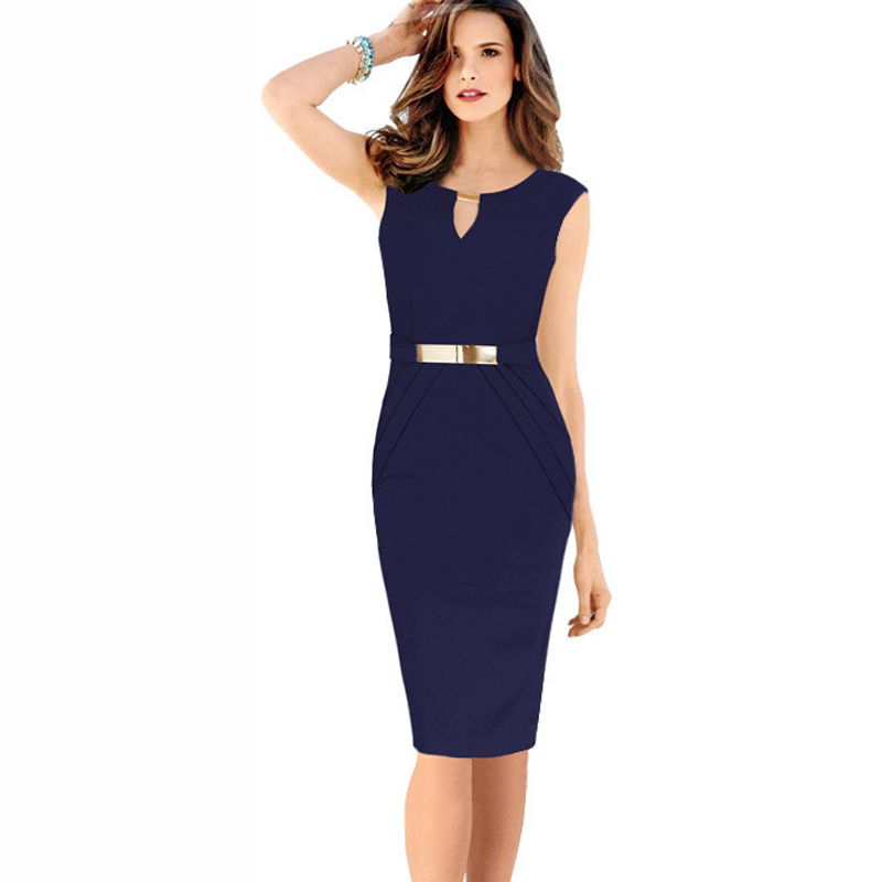 Buy Cheap robe paillettes femme 2016 Summer Fashion Elegant Small V-Neck Silm Sheath Pencil Dress With Metal Sheets Size S-XXXXL