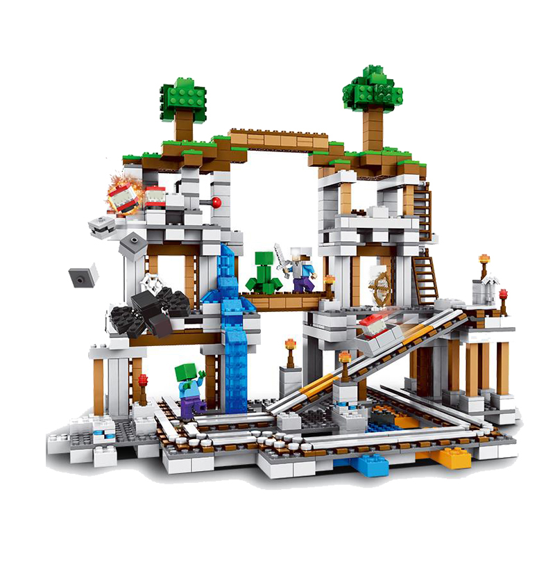 Lepin My world Minecraft The Mine Building Blocks DIY Assemble Figure Construction Enlighten Bricks Toys artdeco тушь для ресниц all in one 1 10 мл