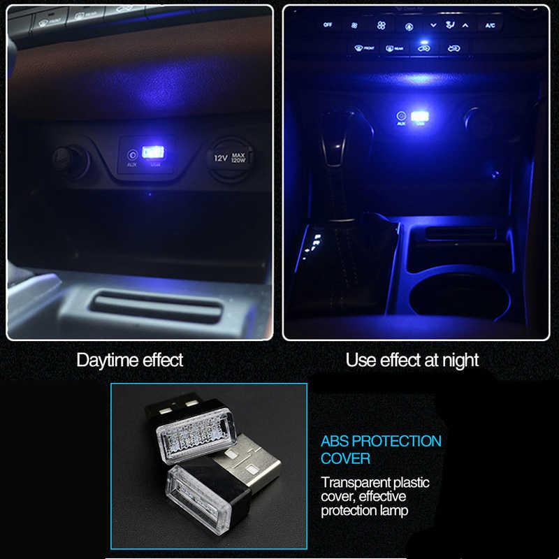 Nouveau STYLE voiture USB LED lampe d'ambiance pour Mercedes Benz W211 W203 W204 W210 W124 AMG W202 CLA W212 W220 W205 W201 classe A GLA