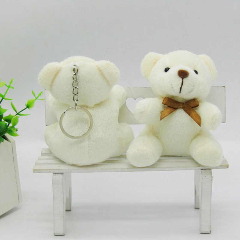 40 шт/лот Kawaii небольшое соединение плюшевых мишек плюшевый плюш с цепью сидя высота 10 см плюшевый мишка маленький медведь плюшевый Тедди игрушки подарки 0152