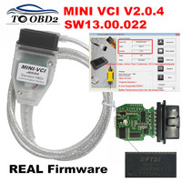 MINI VCI New Real Firmware V2.0.4 Latest Version V13.00.022 For Toyota j2534 K+DCAN Supports K Line MINI VCI HW2.0.4 FT232RL
