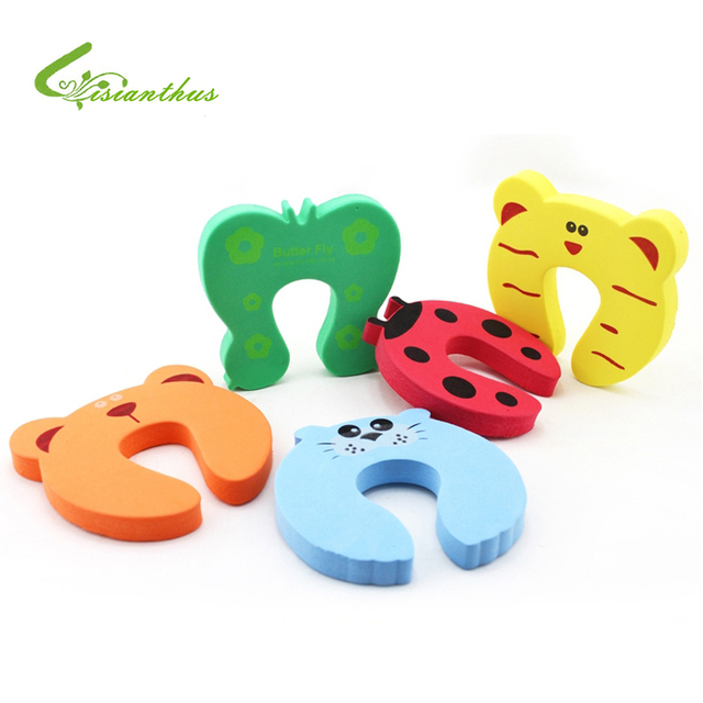 Child Kids Baby Animal Cartoon Jammers Stop Door Stopper Holder Lock Safety Guard Finger Protect Free Shipping 20Pcs/Lot TA004