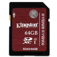 Kingston SD Card SDHC SDXC UHS I U3 Class 10 Memory Card 32GB 64GB Up To