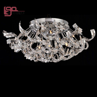 New Italian Style LED Crystal Chandeliers Ceiling Fixtures Dia650 H300mm Lustres Living Room Light G4 Luminare