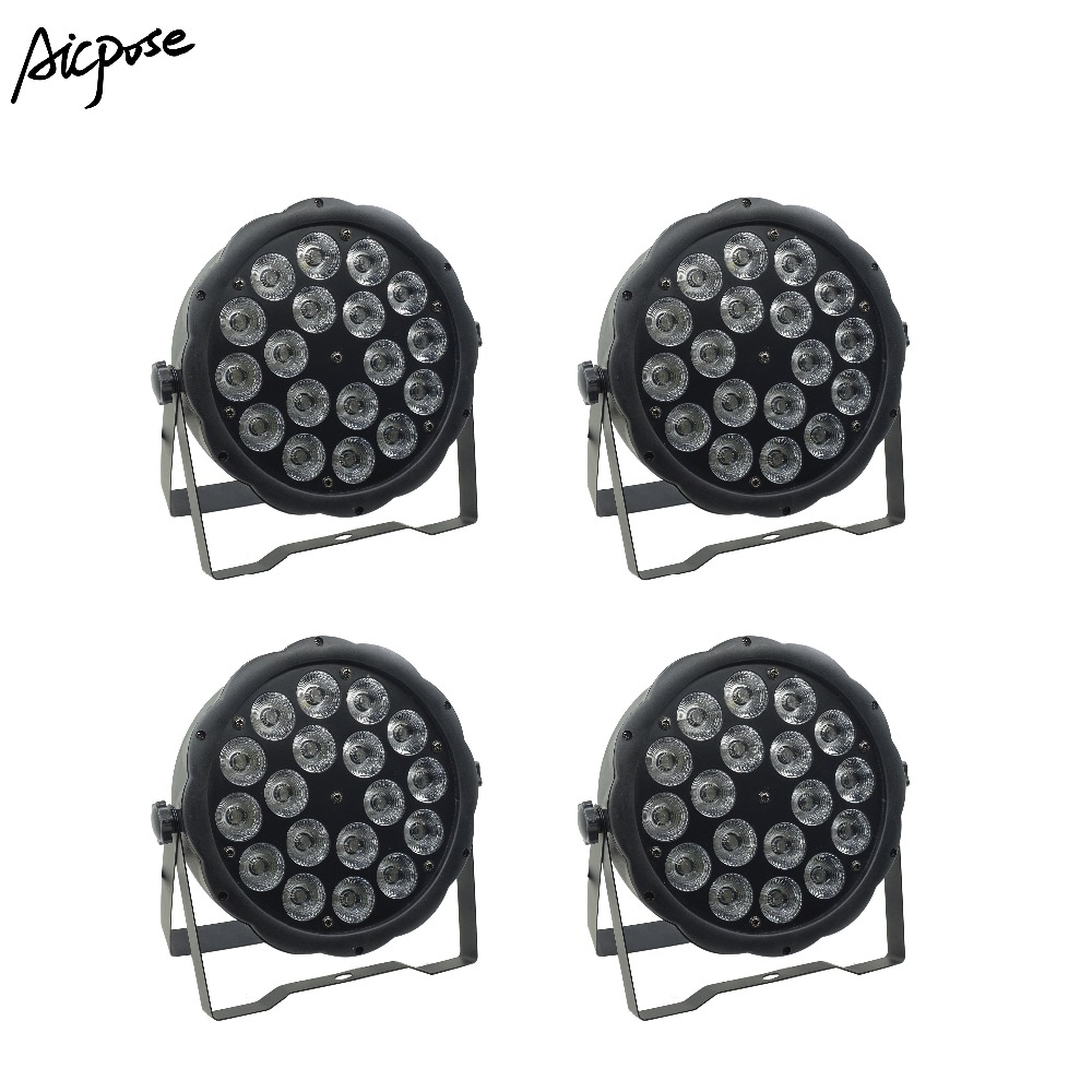 4Pcs/lots 18x10W Big Lens RGBW 4in1 Led Par Light 18*10w With DMX512 Control Disco Lights Stage DJ Wedding Disco Stage Lighting