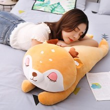 85cm Cute Sika Deer Plush Pillow Stuffed Animal Dear Plush Big Doll for Children Pusheen Home Decor Kids Toy(China)