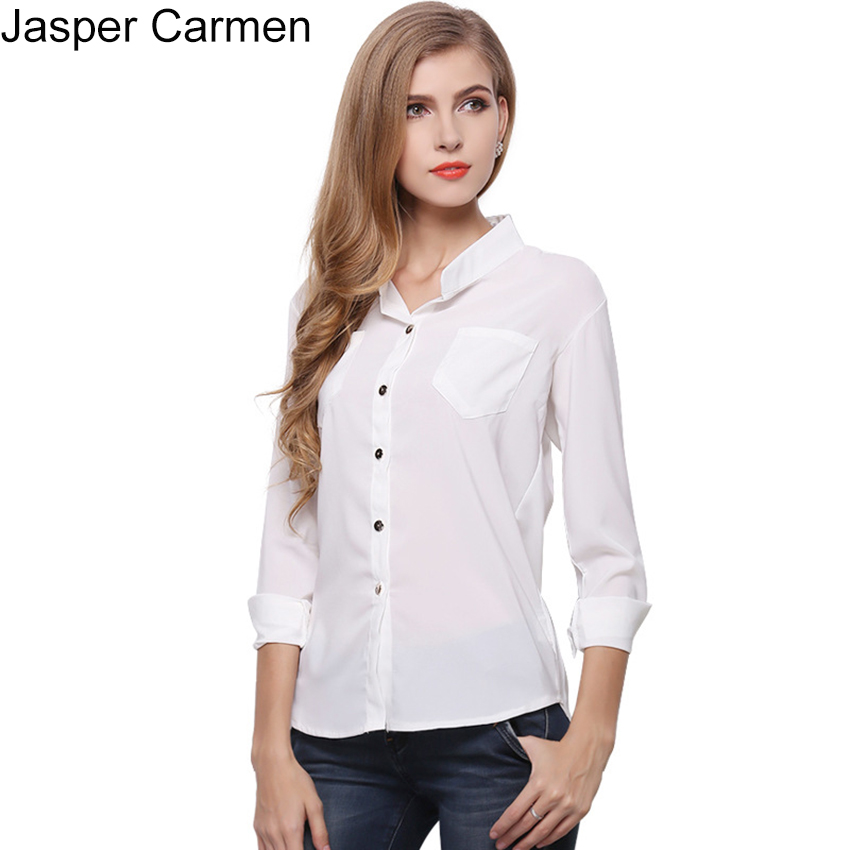 Aliexpress.com : Buy New Women Office Shirts Ladies Basic ...