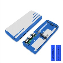 Carcasa de batería portátil 5x18650 caja de cargador de batería DIY 5V 1 a caja del Banco de energía con linterna LED (sin batería)
