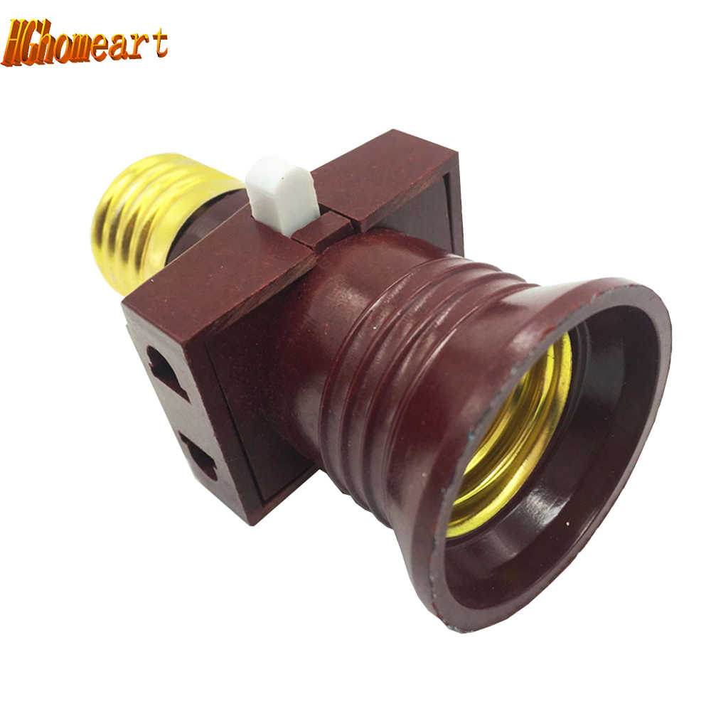 Sub-fire switch vintage e27 socket AC 110V 220V LED E27 Lamp Bases pendant bulb holder PVC e27 lamp holder lampholders