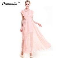 Donnalla Women Dress Fashion Boho Maxi Print Dresses Plus Size Long Dress Sleeveless Summer Sundress Vestidos