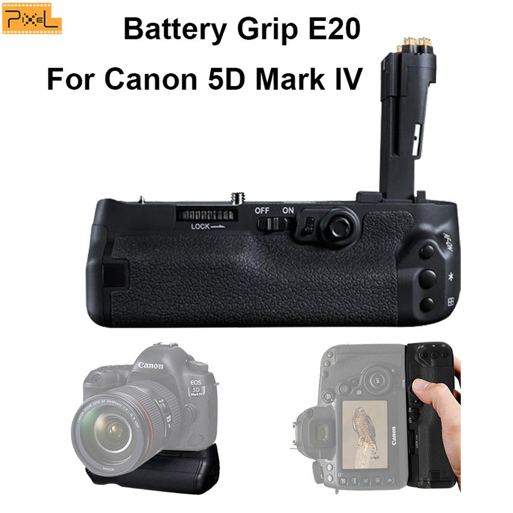 Pixel E20 Battery Grip Vertical shooting Double Power For Canon 5D Mark IV meike mk 5d4 multi power battery grip pack for eos 5d mark iv as bg e20 replacement works with lp e6 battery