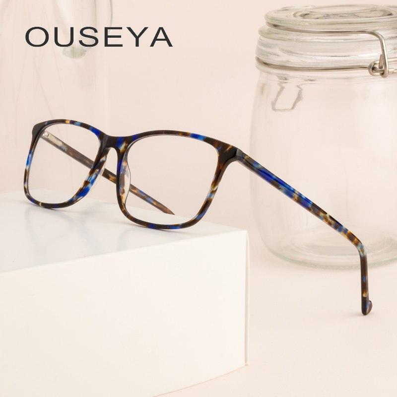 Mulheres Óculos de Armação de acetato de Moda Óptica Retro Grau Clear  Trendy Mulheres Armação Para 938de9810a