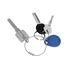 High Quality Key Ring Car Key Chain Twist Screw Locking Keyring Creative Aircraft Cable Wire Stainless Steel Car Accessories