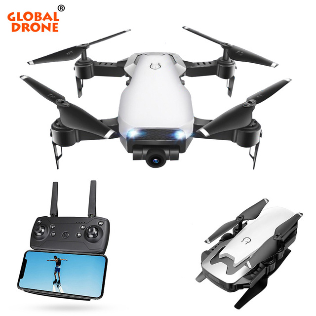 Global Drone FPV Selfie Dron Foldable Drone with Camera HD Wide Angle Live Video Wifi RC Mini Drones Quadcopter Quadrocopter