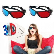 2 Pairs Black Frame 3D Glasses Red Blue Lens Virtual Reality For XGIMI Universal Video Movie Games Anaglyph Plastic Style VR