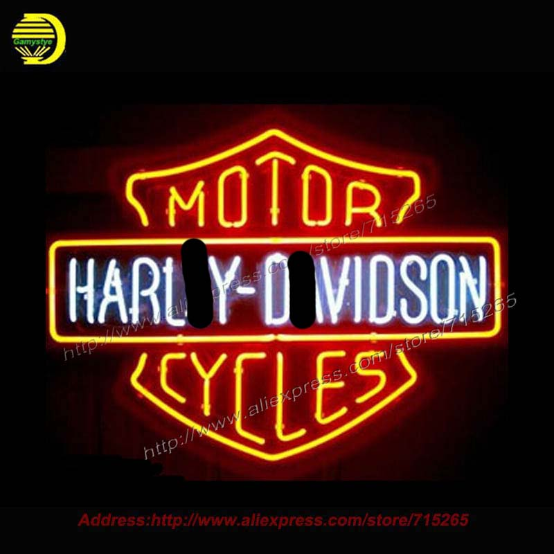 NEW Motor Cycl LIGHT SIZE 19X15 GLASS NEON SIGN LIGHT BEER BAR PUB SIGN ARTS CRAFTS GIFTS SIGNS Publicidad Light Sign brand custom signage neon signs pizza beer real glass tube bar pub signboard display decorate store shop light sign 17 14