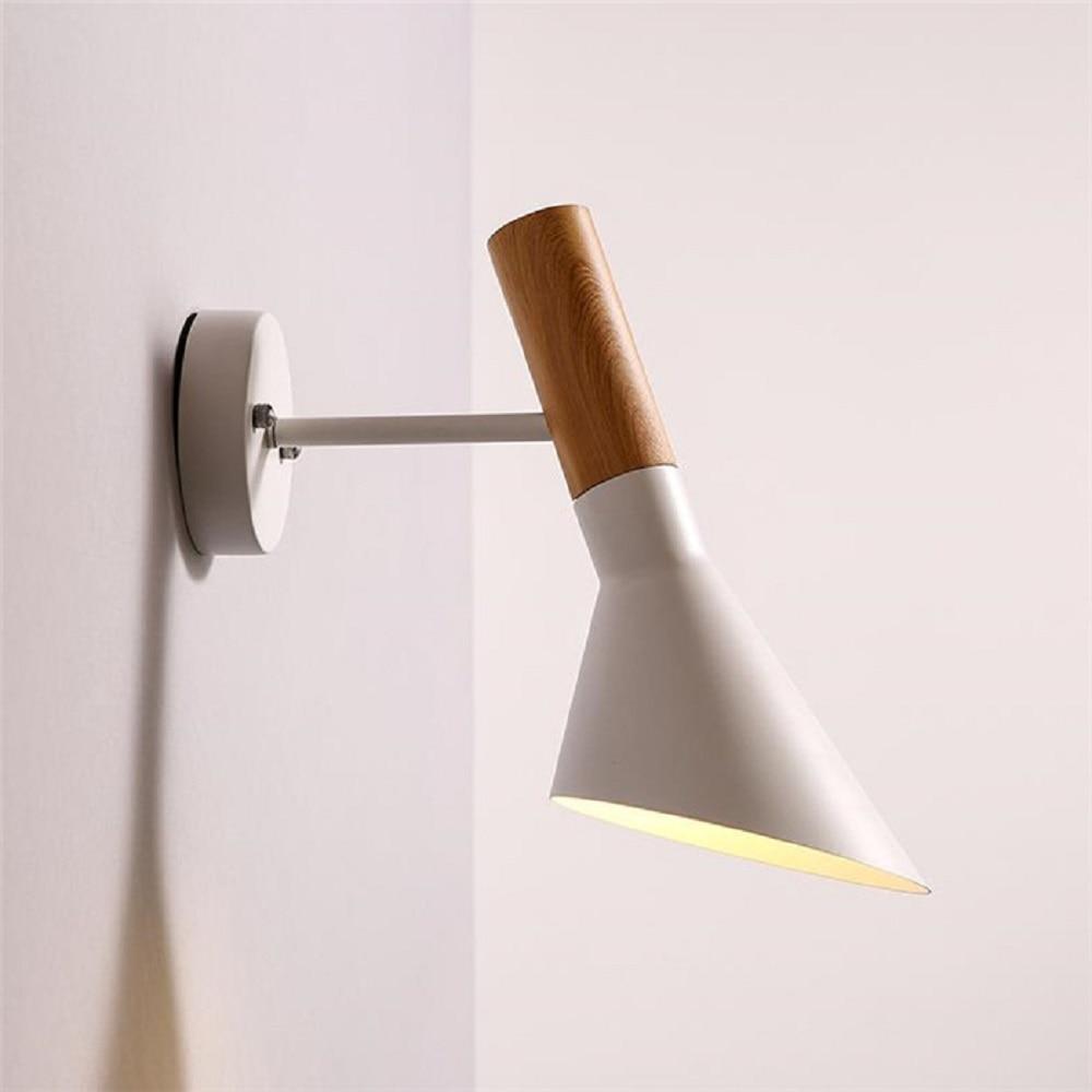 ФОТО Modern Nordic American Arne Jacobsen AJ Wall Lamp White bedroom living room bed Vintage indoor wall light sconce Cafe Bar Lustre