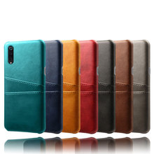2019 NEW Dual Card Pocket Phone Case Cover For Xiaomi Mi9 Mi9se Luxury Classic Business PU Leather Back Mi 9 Mi9SE