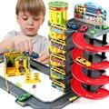 2017 niños de juguete de múltiples capas montado regalo cola de estacionamiento del coche para niños amigos niños iq educativo toys simulación