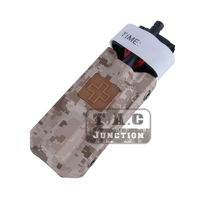 Tactical MOLLE Rigid Application Medic Issued Tourniquet Pouch Hard Shell Open Top High Speed Case Carrier Storage Bag