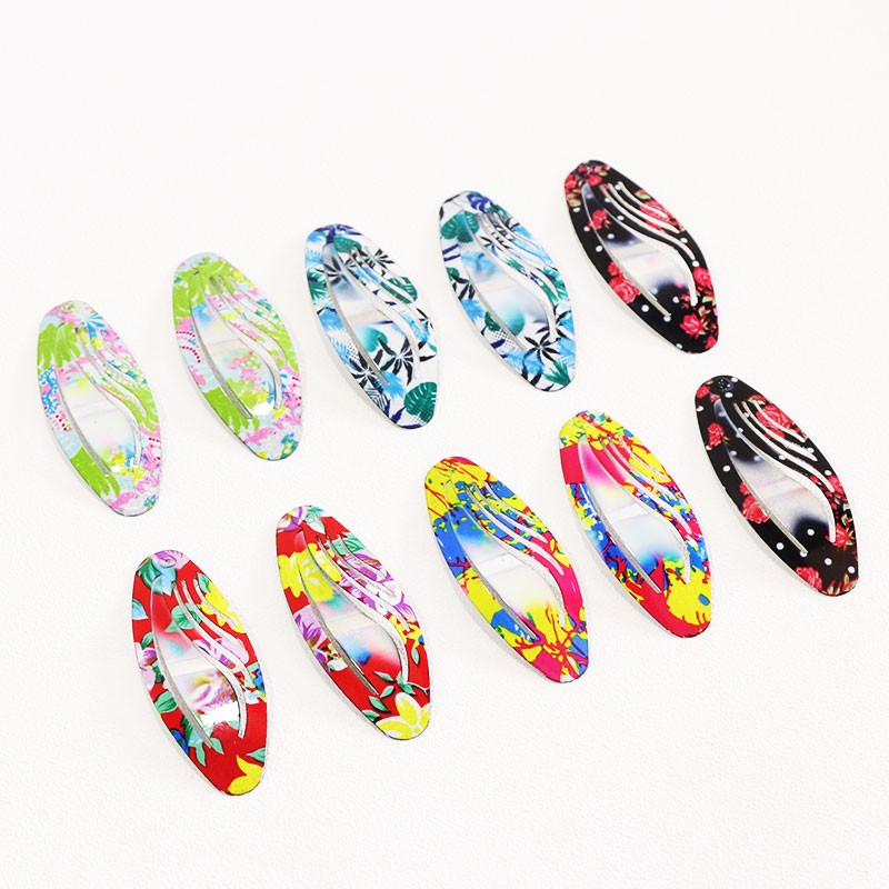 HTB15Nu1OpXXXXXuXVXXq6xXFXXXg Delightful Flower Geometric Print Hair Clip Set For Women - 7 Sets