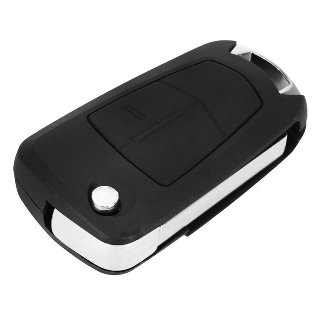 E92 Foldable Car Remote Key Holder Case Shell 2-button Flip Protecting Cover Suitable for Opel with Rubber Texture Material