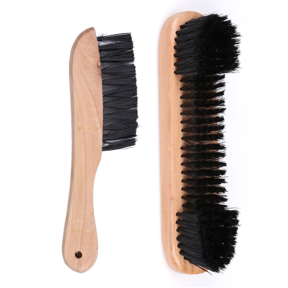 New Pair Rail & Felt Brush Cleaner Billiard Snooker Pool Table comfortable Grip Wooden Tool For easy Carring and Storage