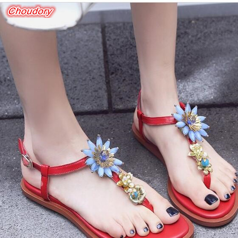 Rhinestones Thong Flip Flop Gladiator Sandals Women Handmade Luxury Designers Shoes Women Flower Star Flat Shoes zapatos mujer
