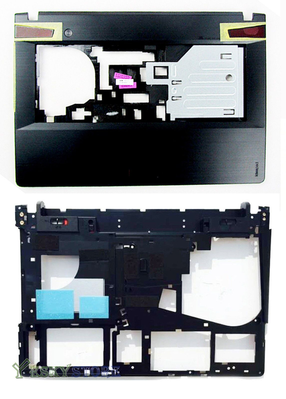 NEW For Lenovo Ideapad Y400 Y410P Y410 Series Bottom Base Case Cover & Palmrest Upper Case Free Shipping
