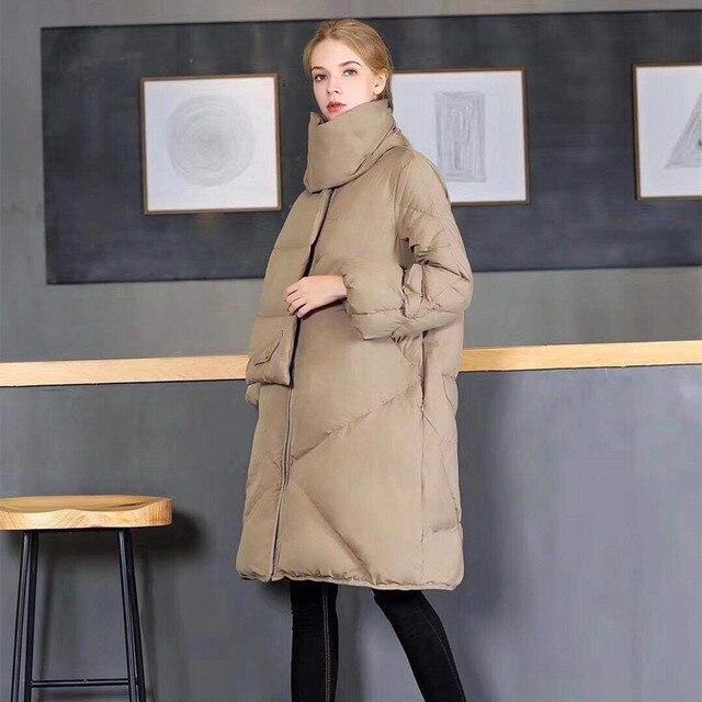 2017 Для женщин зимнее пуховое пальто длинные утолщенной Воротник теплая куртка-пуховик женский стеганая куртка верхняя одежда, парки