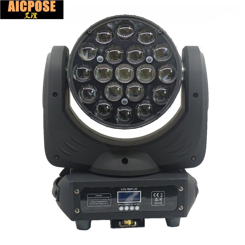 19x15w Led RGBW 4in1 Wash/Zoom Light DMX512 Moving Head Light Professional Show Stage Light 19*15w LED Stage Machine 200w led follow spot light warm white cool white 2in1 rgbw 4in1 zoom dmx512 stage led profile light