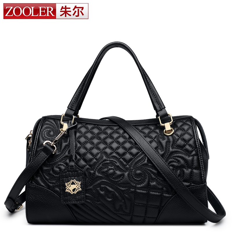 ZOOLER Elegant Women Messenger Bag Black Carving Flower Weave Fashion Style Boston Pillow Handbag Bolsa de Playa bolsa feminina women fashion rivet punk style handbag ladies grace elegant luxury messenger bag bolsas de marcas famosas feminina cymakaxa1004d