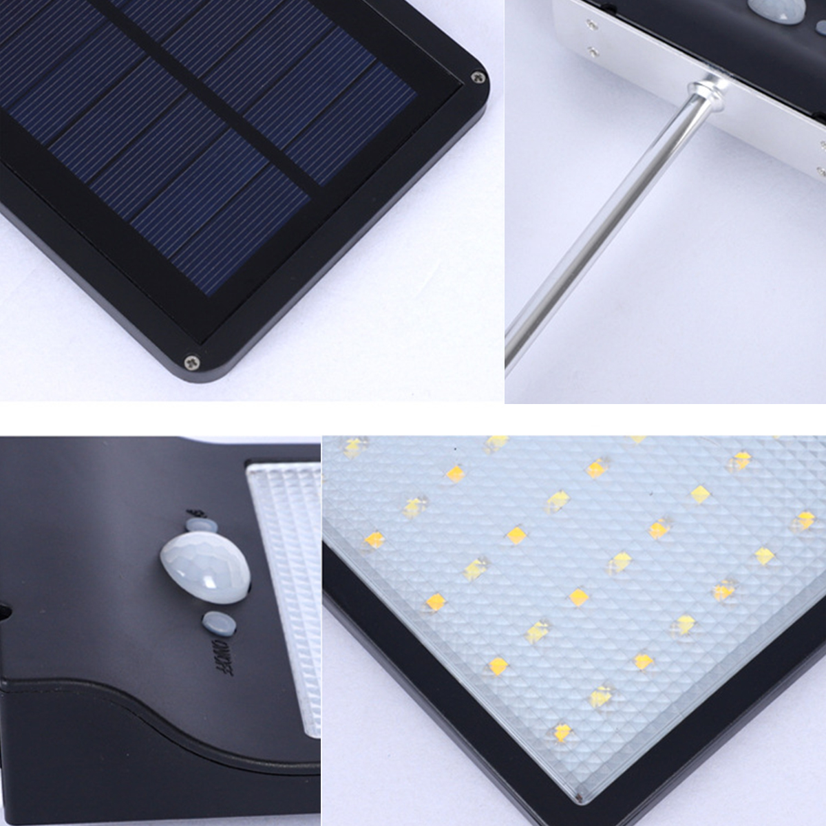 Solar Lamp 48 LED Solar Light Waterproof Outdoor Lamp Color Adjustable With Controller Three Modes Lights For  Garden Wall Light