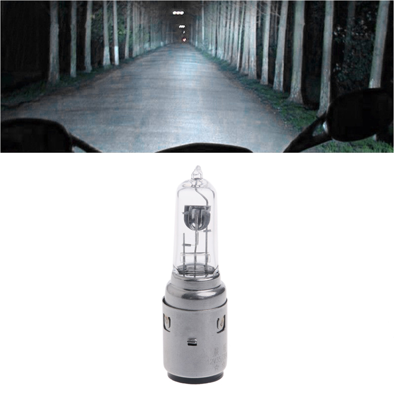 Motorcycle DC 12V 35W BA20D Headlight Halogen Xenon Bulb White Light Car Accessories