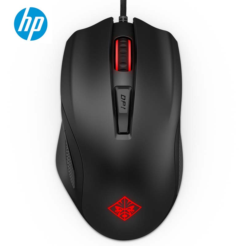 HP OMEN Mouse 600 Wired USB Optical Gaming Mouse*6 Buttons*12,000 DPI*12 Colors gaming usb wired mouse zelotes c 12 programmable buttons led optical usb gaming mouse mice 4000 dpi souris sans fil