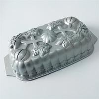 Kitchen Bakeware Supplies Pumpkin Loaf Cake Pan Heavy Cast Aluminum Baking Form DIY Cake Design Nonstick Cake Mold For Baking