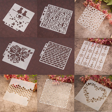 Kind of Heart Dot Numbers Stencils Sticker Painting Scrapbooking Paper Card Template Decoration DIY Home Decor Album Crafts Arts merry christmas trees sticker painting stencils for diy scrapbooking stamps home decor paper card template decoration album